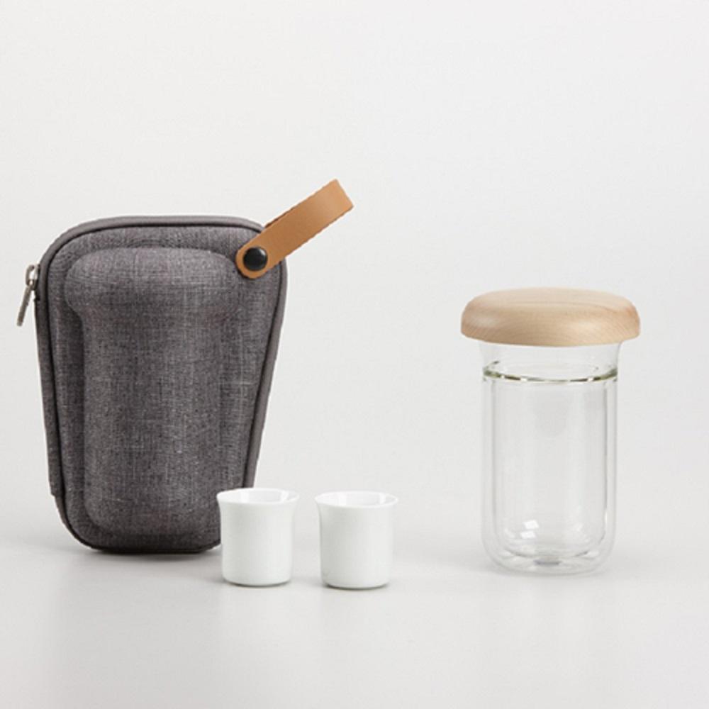 ZENS   月見時尚旅行茶具組 (經典灰)