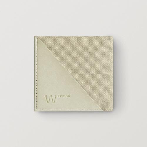 Baggizmo | Wiseward Essential 時尚超薄RFID防盜皮夾 (米色)