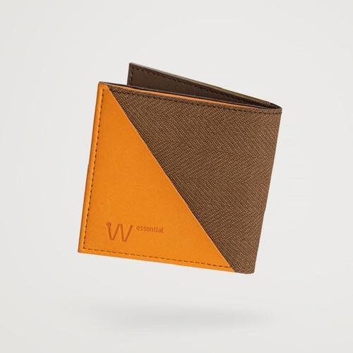 Baggizmo   Wiseward Essential 時尚超薄RFID防盜皮夾 (雅痞棕)