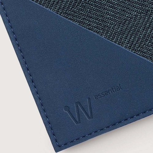 Baggizmo | Wiseward Essential 時尚超薄RFID防盜皮夾 (紳士藍)