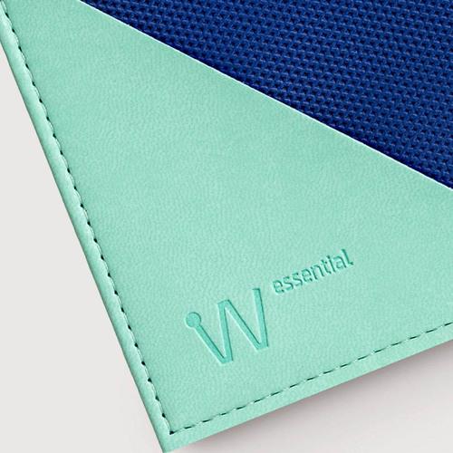 Baggizmo | Wiseward Essential 時尚超薄RFID防盜皮夾 (湖水藍)