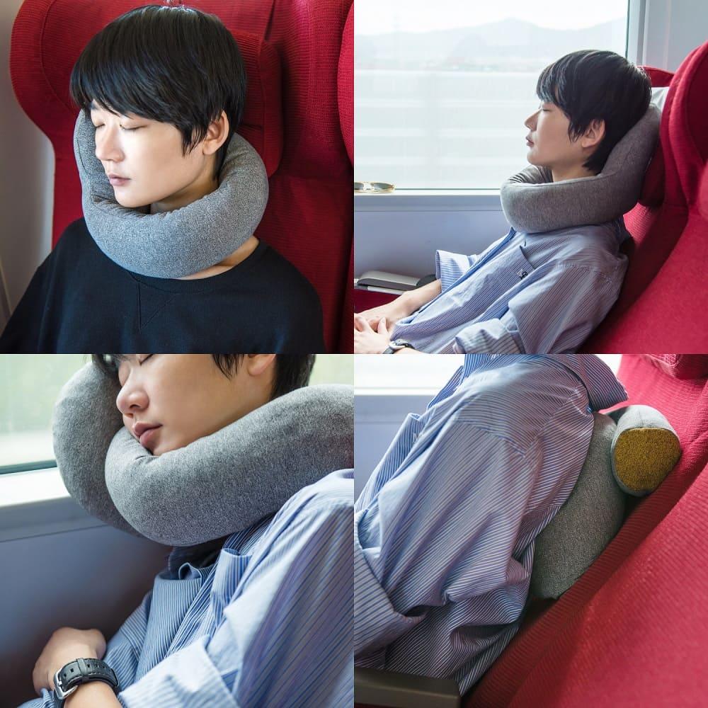 Kiwee|LOLLIPOP 天然乳膠可調式頸枕 (芝麻灰)