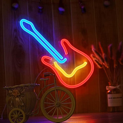Light in Plan O 造型背板霓虹燈 - 吉他