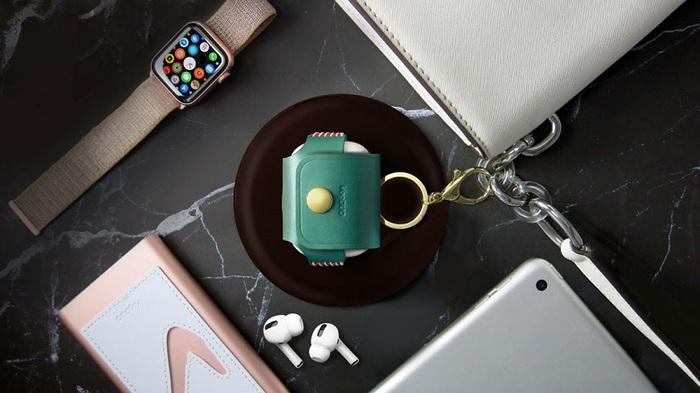 (複製)VogDUO|Airpods Pro 義大利真皮革手工保護套(典雅紅)(附贈金屬扣環鑰匙圈)