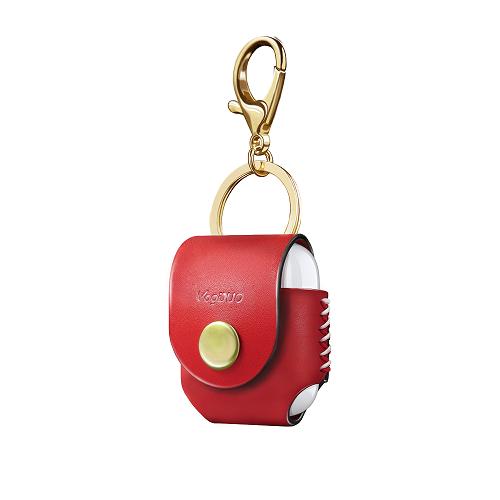VogDUO Airpods 義大利真皮革手工保護套(典雅紅)(附贈金屬扣環鑰匙圈)