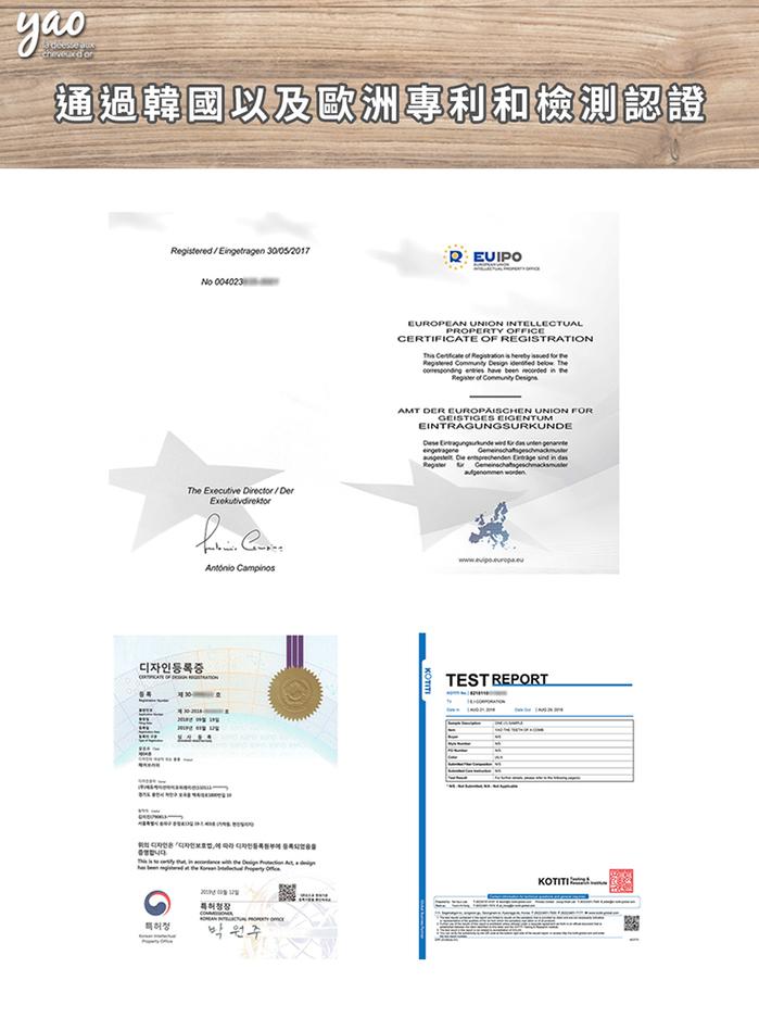 Yao 韓國簍空抗靜電按摩梳-方方款 (藍灰)