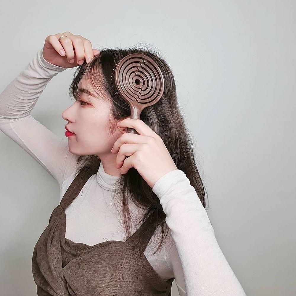 Yao|韓國簍空抗靜電按摩梳-豬鬃毛款