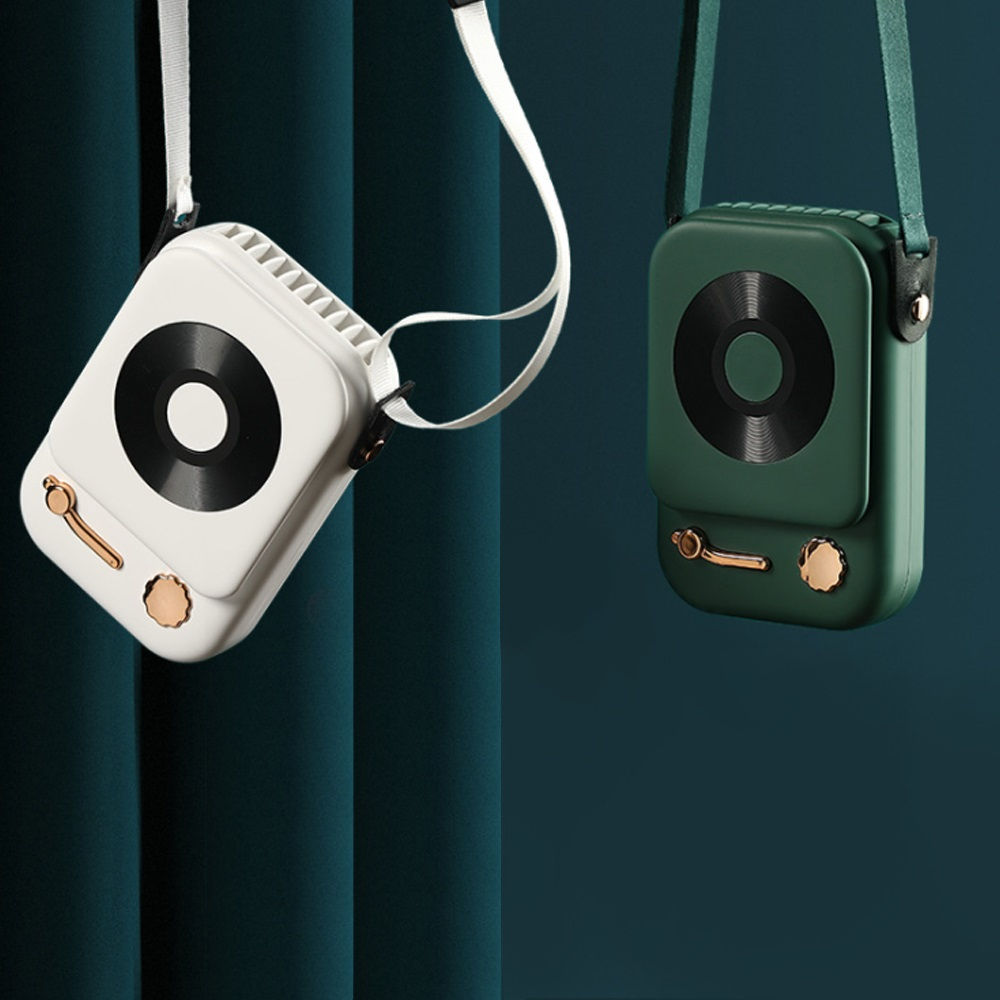 HLL|復古收音機型掛脖風扇 2入組 (3色任選)