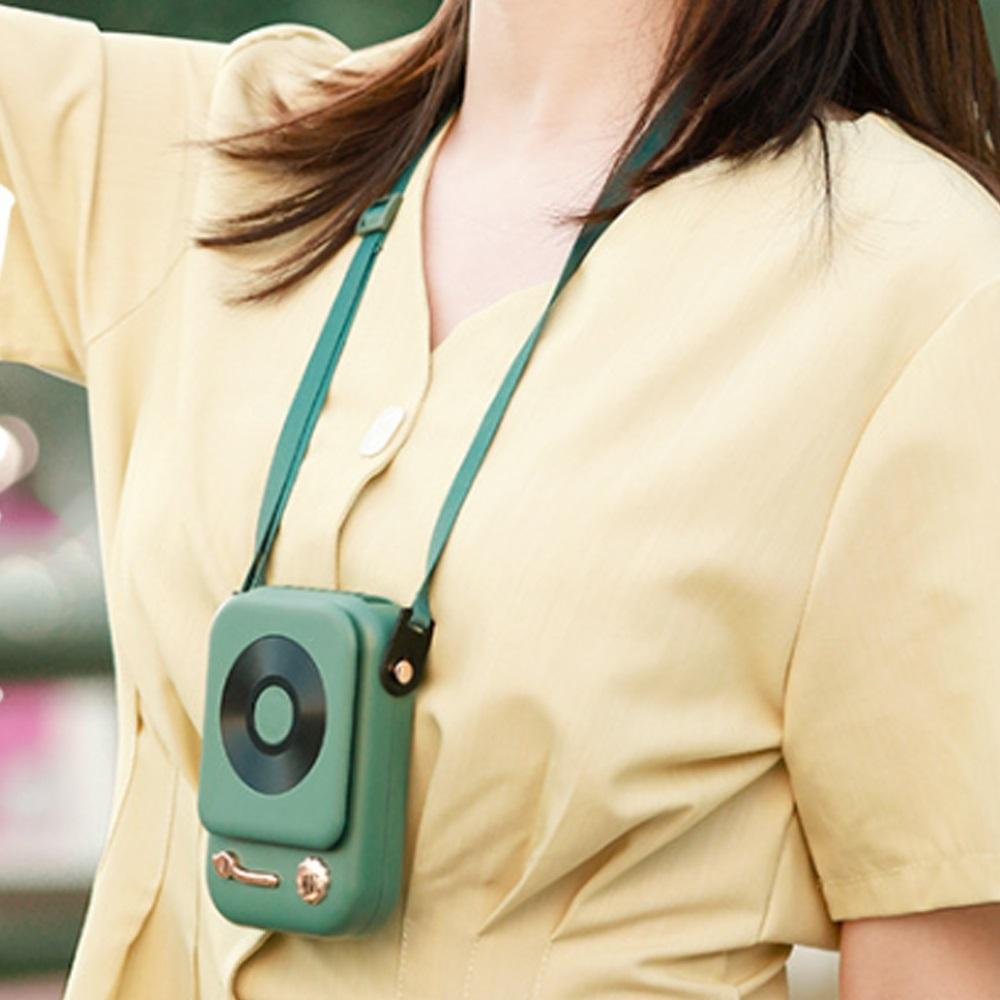 HLL|復古收音機型掛脖風扇 3入組 (3色任選)