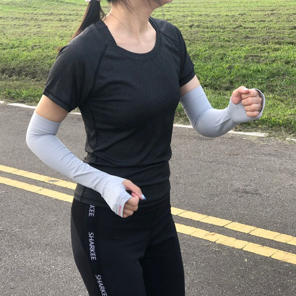 3M|超涼感抗UV舒適無縫袖套-護掌款 2雙入 (4色任選)