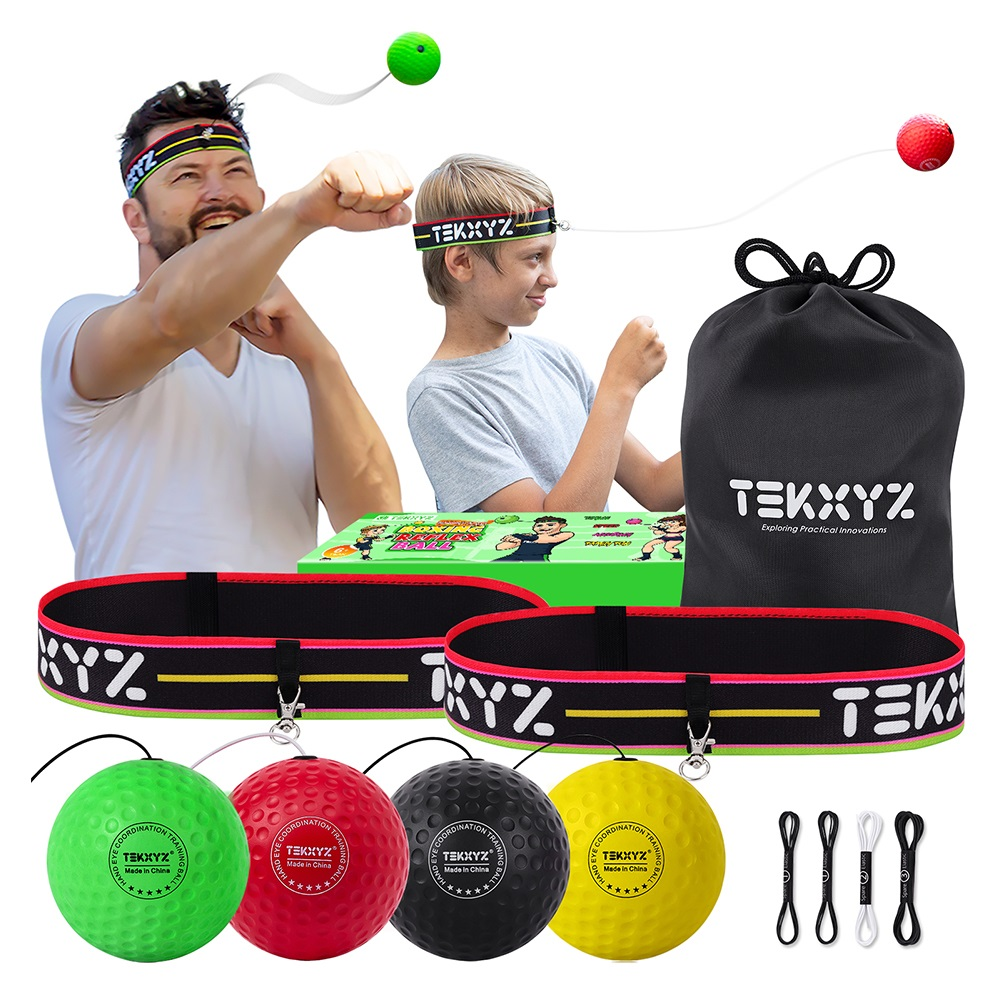 TEKXYZ Fighting Ball 拳擊反射球 - 家庭娛樂組 - 2組入