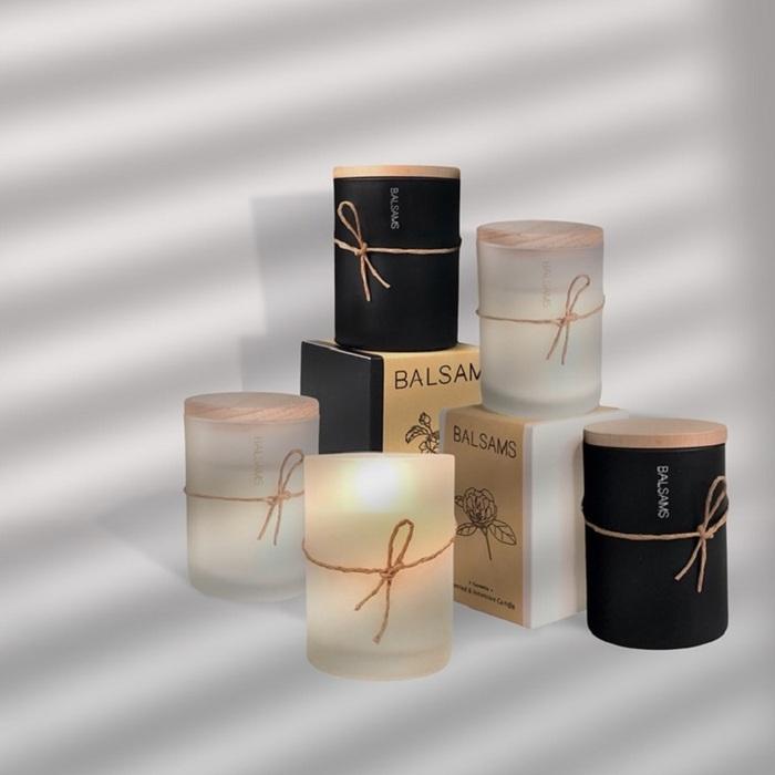 BALSAMS|白森氏香氛工藝蠟燭200g-黑雪松琥珀