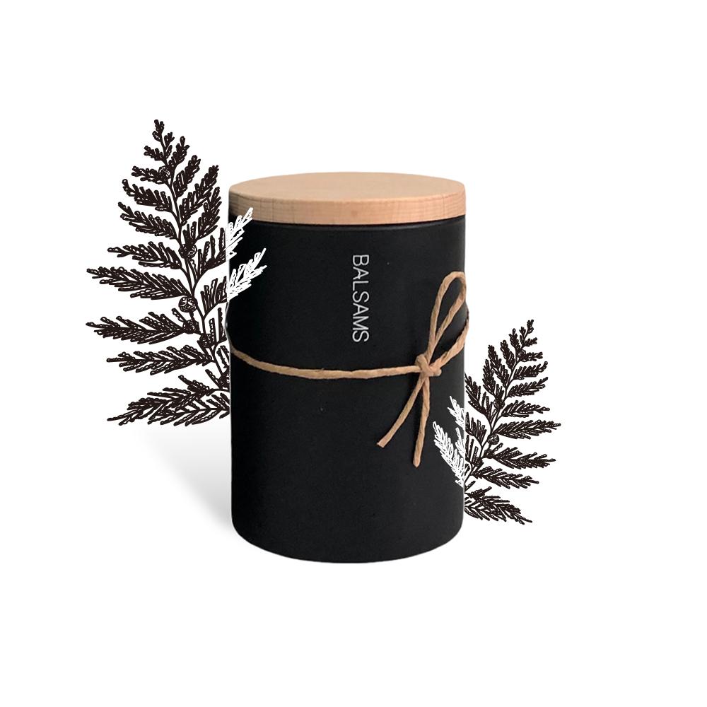 BALSAMS 白森氏香氛工藝蠟燭200g-黑雪松琥珀