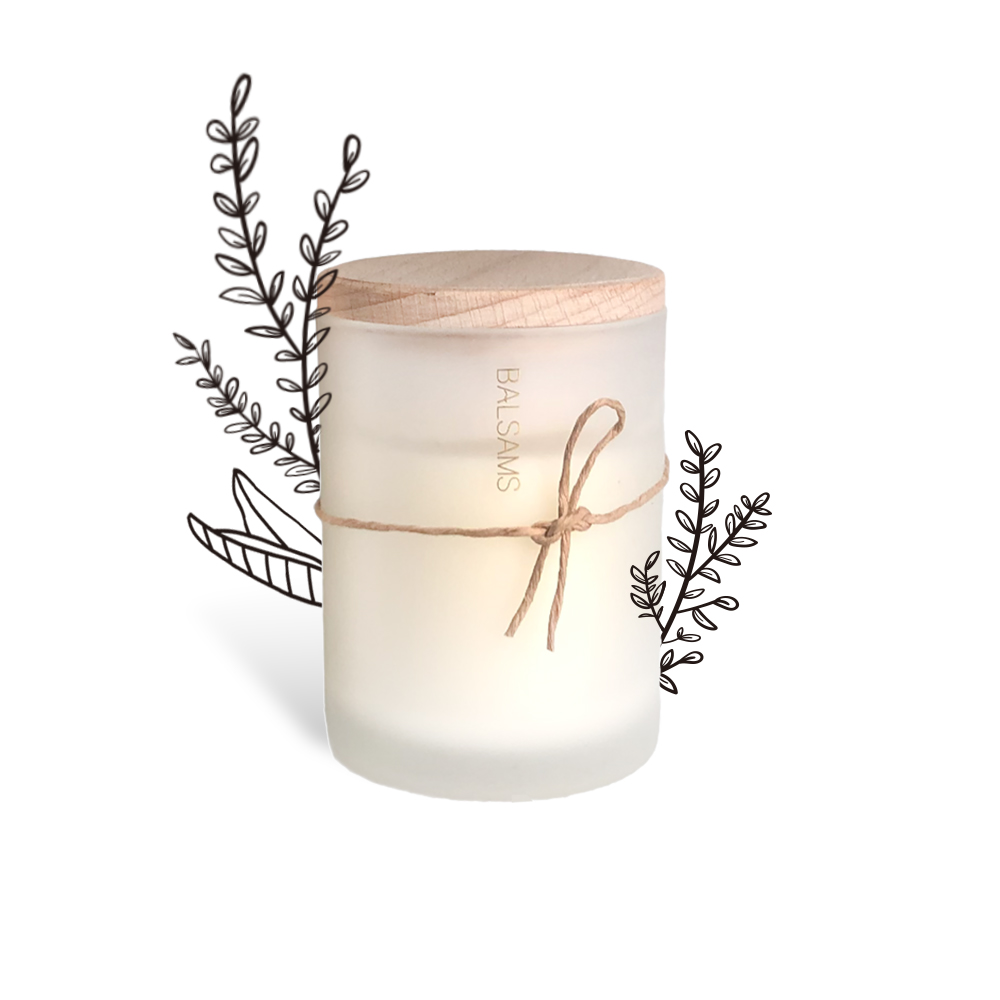 BALSAMS 白森氏香氛工藝蠟燭200g-鼠尾草海鹽