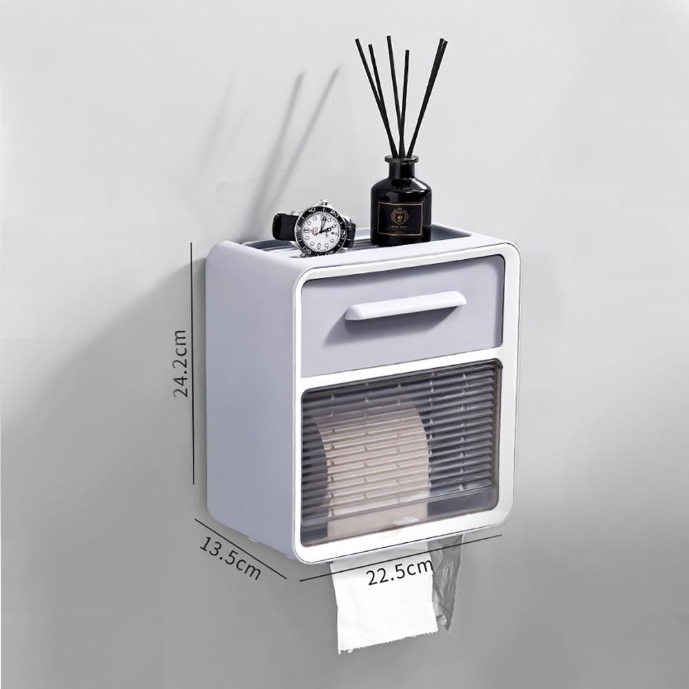 LuvHome|北歐風防潑水壁掛雙層收納衛生紙盒