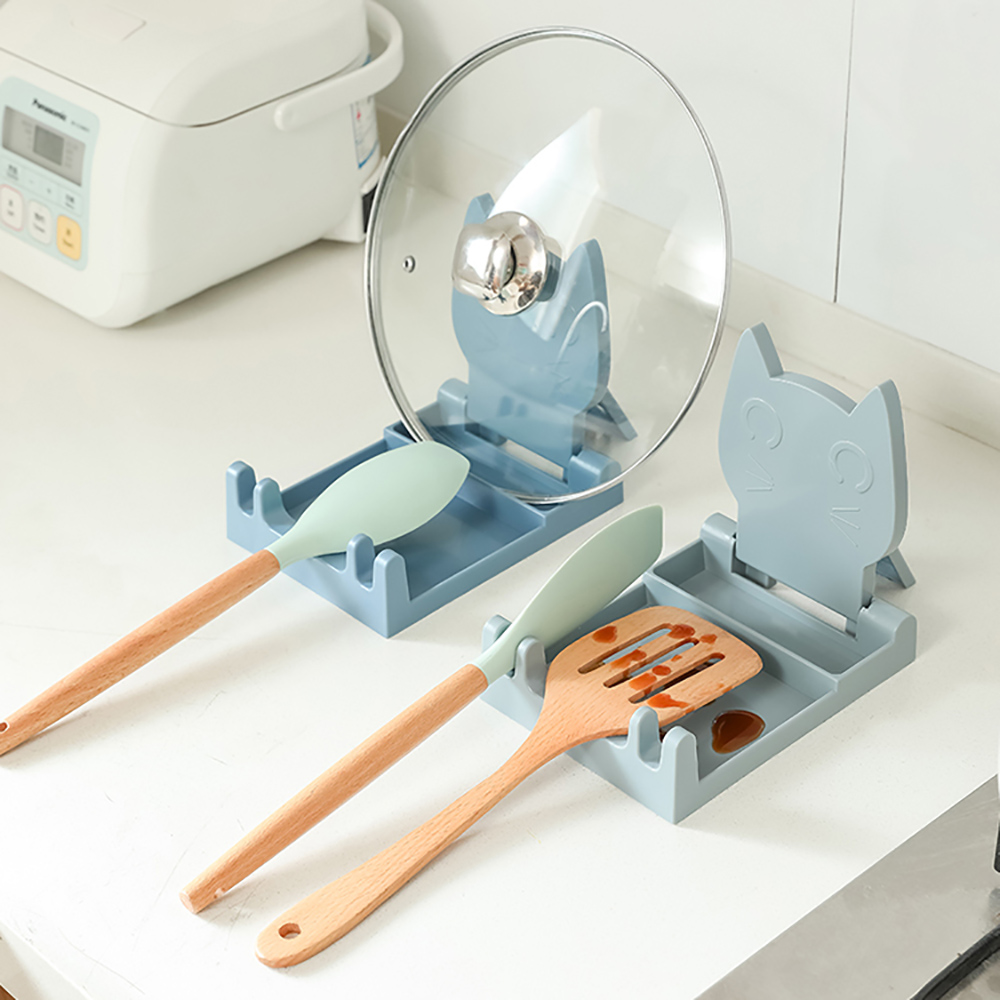 LuvHome|設計感雙用折疊鍋鏟鍋蓋架