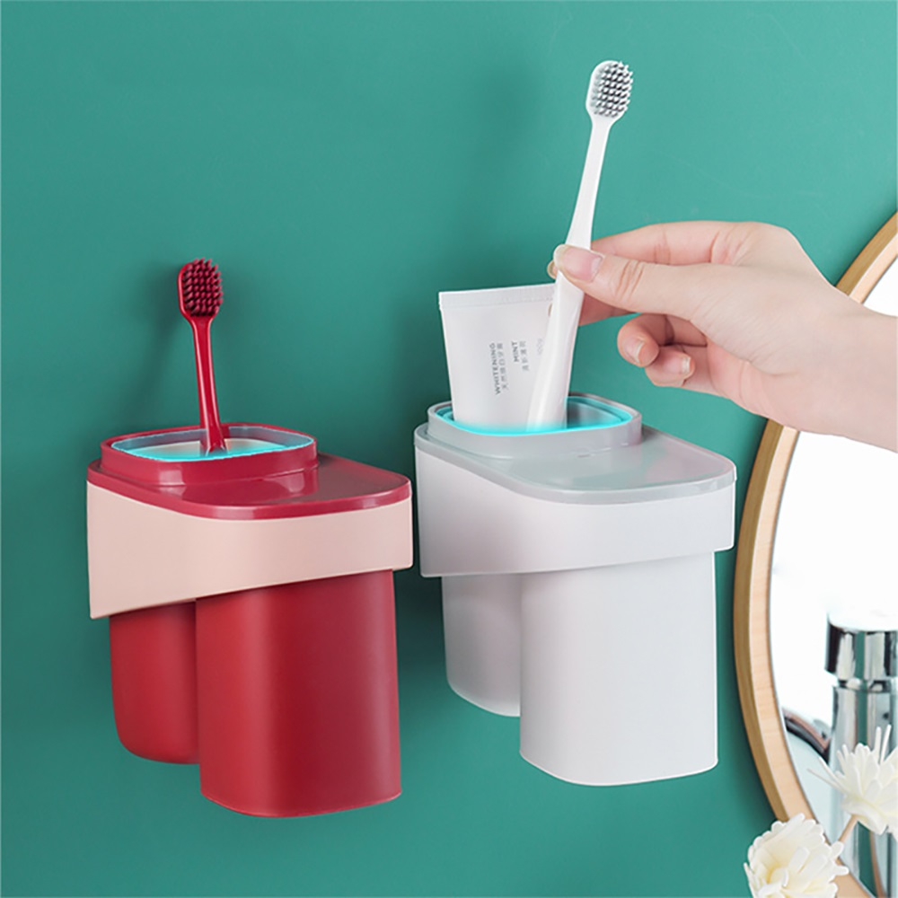 LuvHome|居家旅行多用洗潄杯撞色收納款-2入組(三色任選)