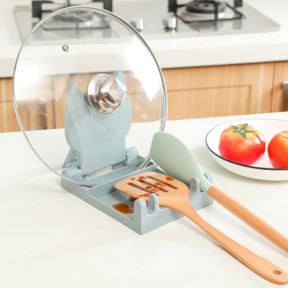 LuvHome 設計感雙用折疊鍋鏟鍋蓋架-2入組(兩色任選)