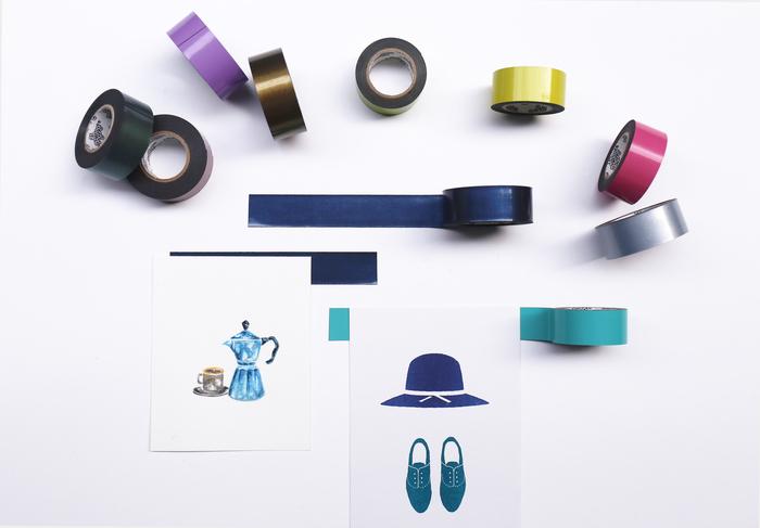3+ Magi Mags|19 x 5 磁鐵膠帶 (霓虹藍)