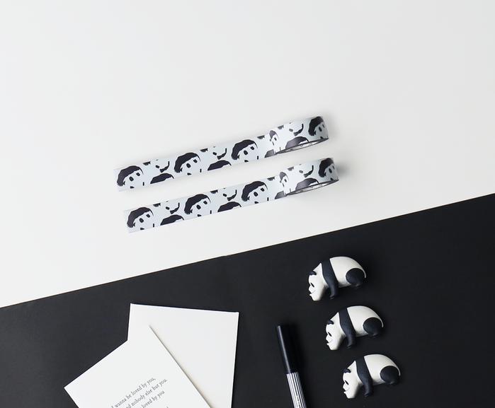 3+ Magi Mags|19 x 3 圖紋磁鐵膠帶 (白底熊貓)