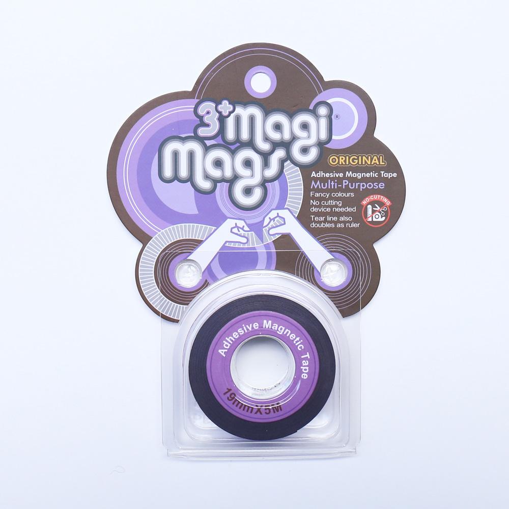 3+ Magi Mags|19 x 5 磁鐵膠帶 (霓虹紫)