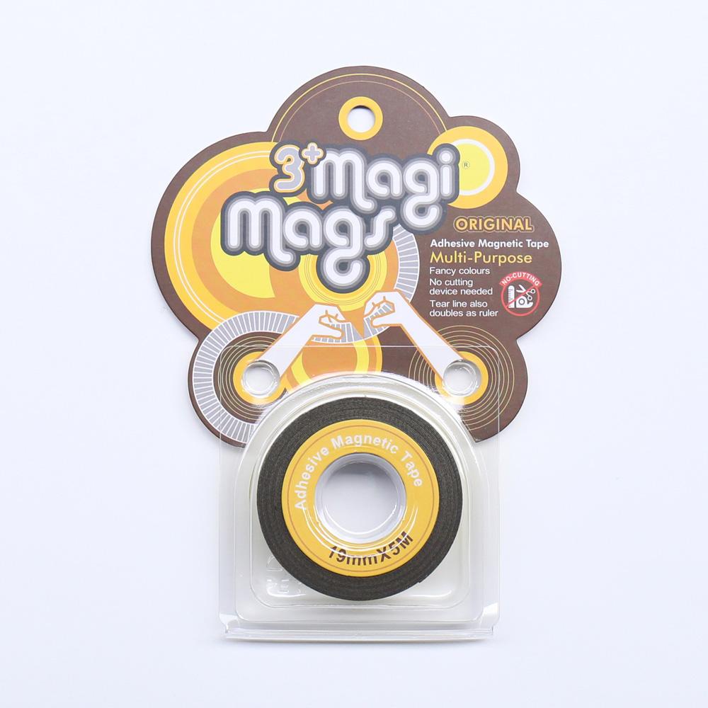3+ Magi Mags|19 x 5 磁鐵膠帶 (霓虹黃)