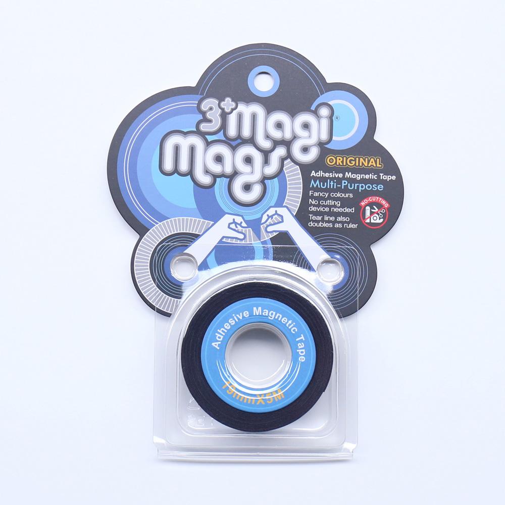3+ Magi Mags|19 x 5 磁鐵膠帶 (經典藍)