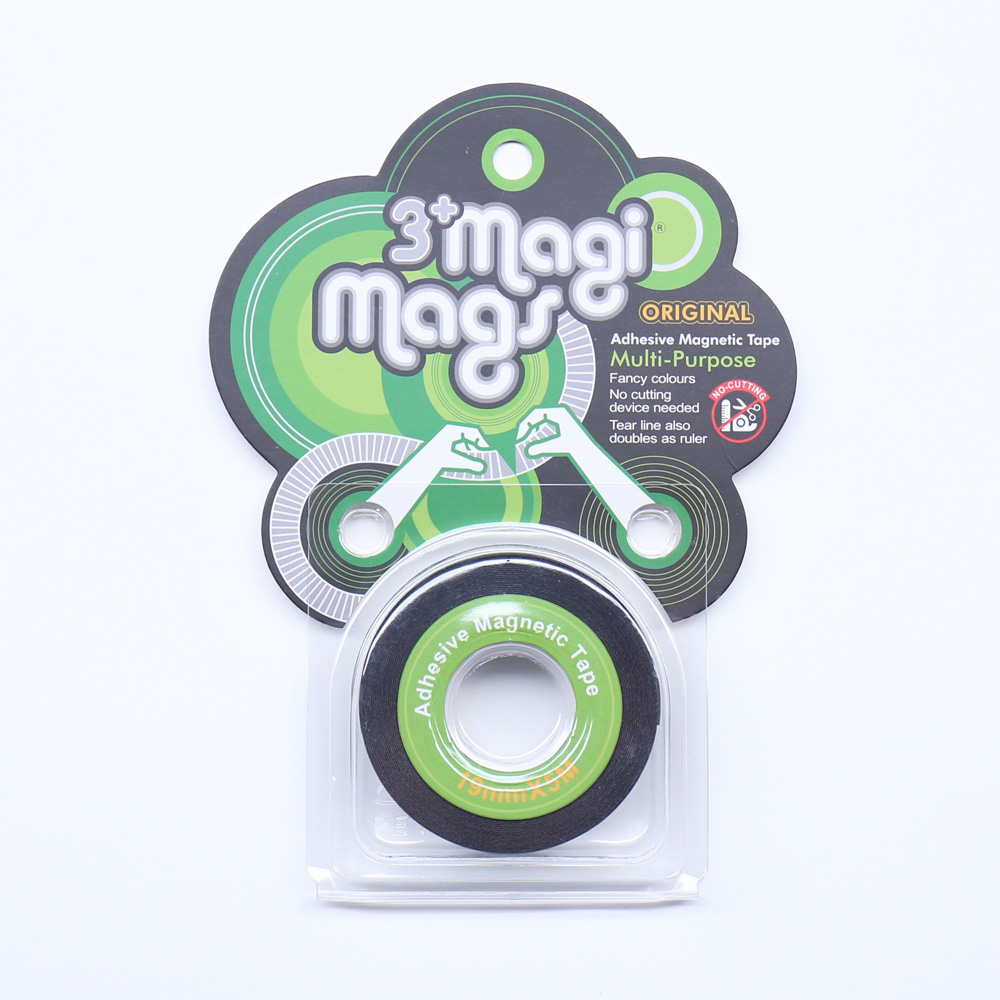3+ Magi Mags|19 x 5 磁鐵膠帶 (經典綠)
