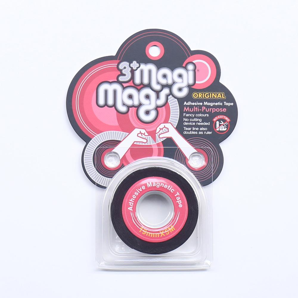 3+ Magi Mags|19 x 5 磁鐵膠帶 (經典紅)