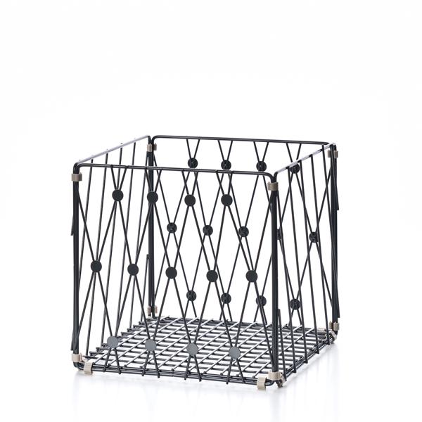 TZULAï|自由組鐵線收納籃_圓點窗花_方型