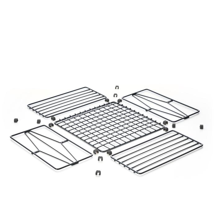 TZULAï|自由組鐵線收納籃_菱格窗花_橫型