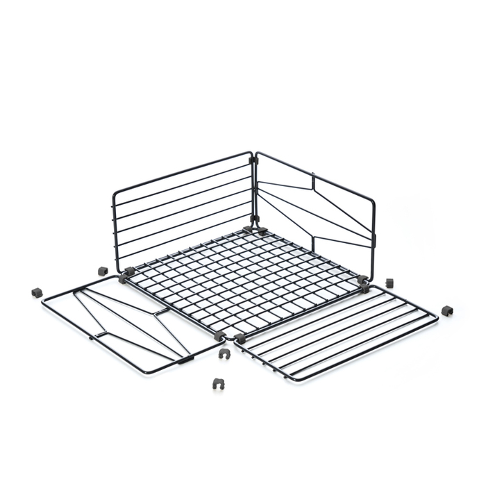TZULAï|自由組鐵線收納籃_菱格窗花_直型