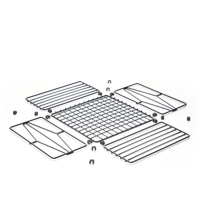 TZULAï|自由組鐵線收納籃_菱格窗花_方型