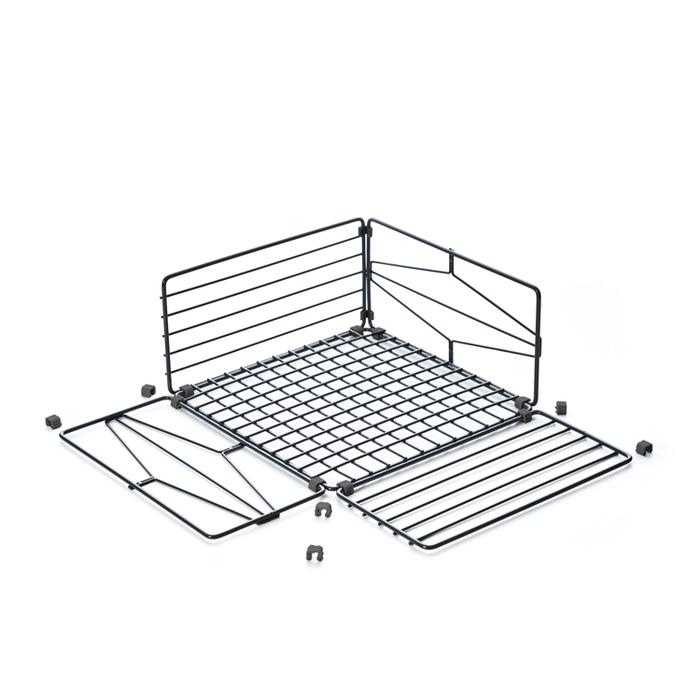 TZULAï|自由組鐵線收納籃_圈型窗花_方型