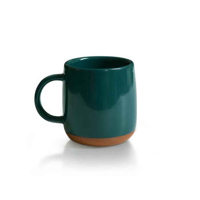TZULAï|厝內 x 貳房苑 紅陶釉燒馬克杯(潮州綠) 【限量聯名】