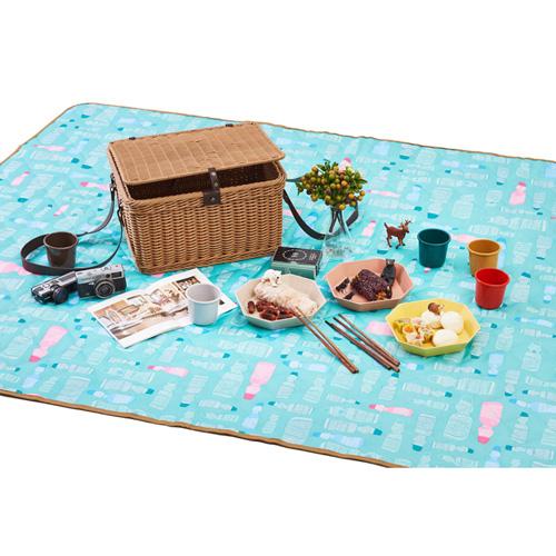TZULAï|彈珠汽水防潑水野餐墊 (四到六人)