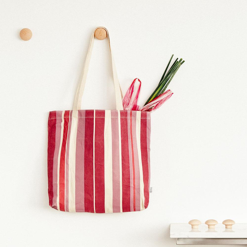 TZULAï|紅白條紋帆布袋