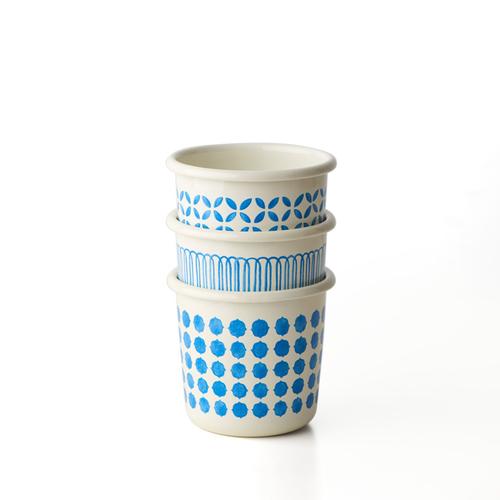 TZULAï|手繪琺瑯杯_磚紋
