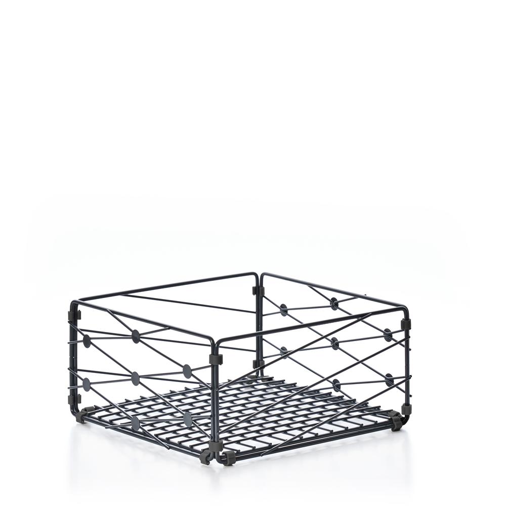 TZULAï|自由組鐵線收納籃_圓點窗花_橫型