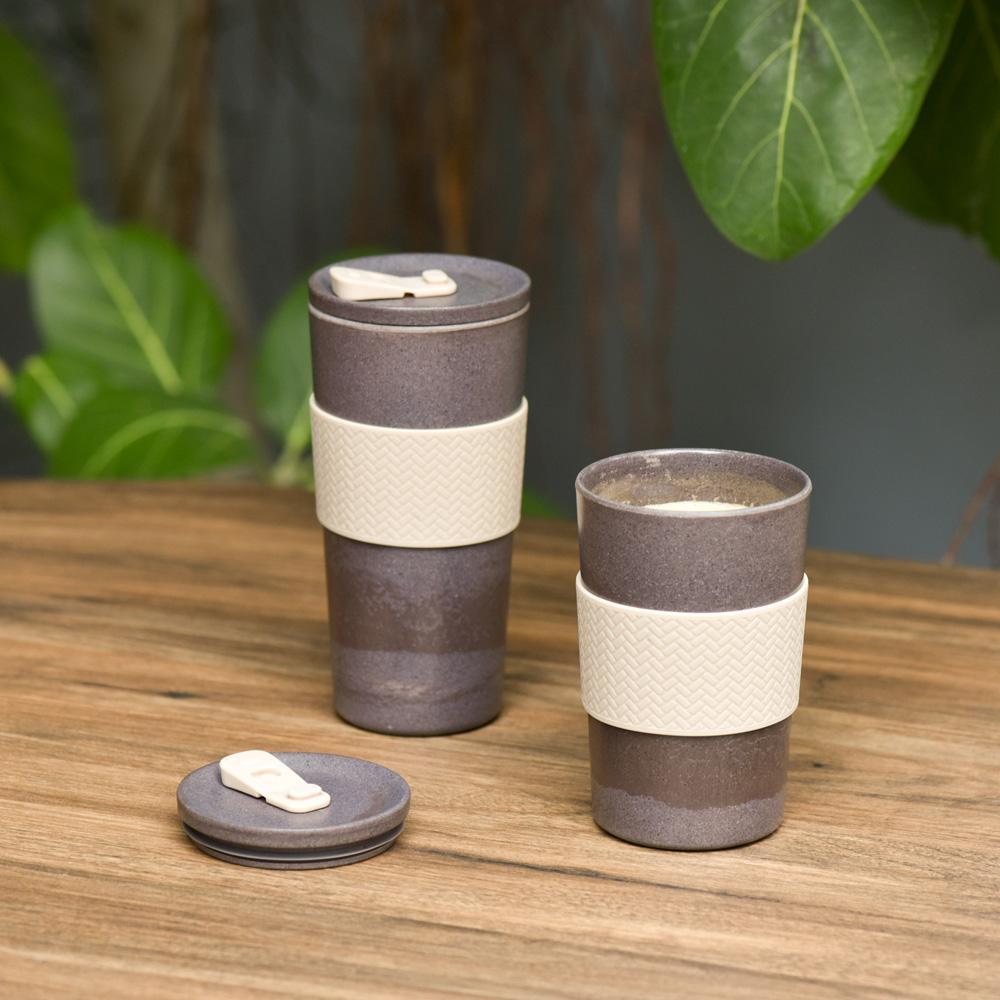 TZULAï Coffee-Cycle 咖啡環保隨行杯400ml(原色)