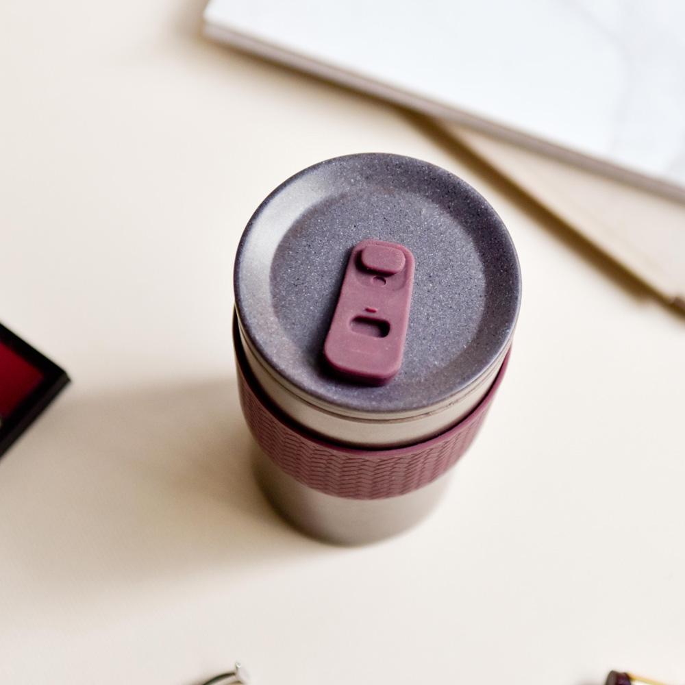 TZULAï Coffee-Cycle 咖啡環保隨行杯400ml(栗莓紅)