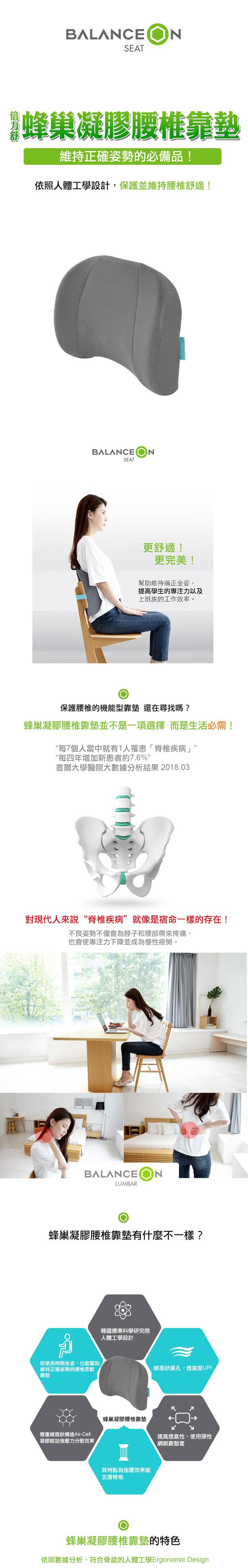 (複製)Bullsone 倍力舒│蜂巢凝膠矯正型坐墊