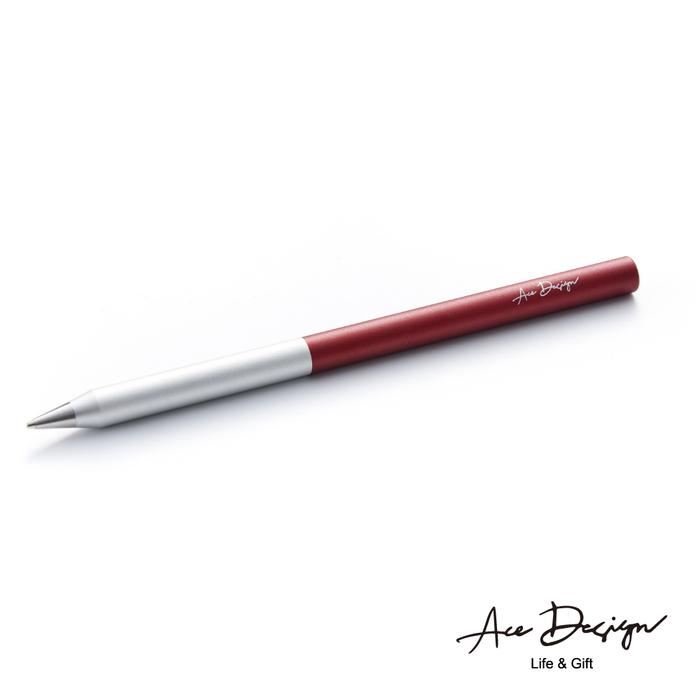 (複製)AceDesign|客製化 3in1無墨永恆鋼珠筆禮盒組-冰燦銀灰(附三款筆頭、義大利真皮筆套)