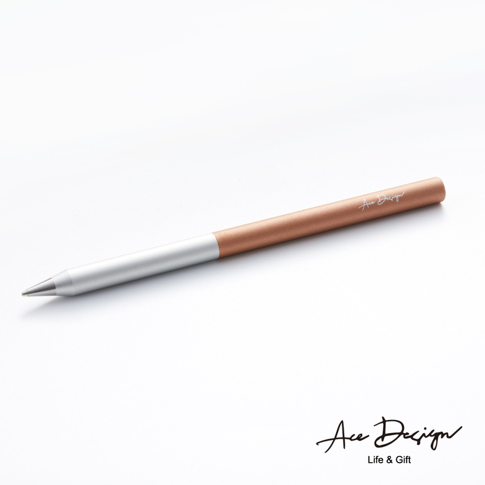 (複製)AceDesign|客製化 3in1無墨永恆鋼珠筆禮盒組-冰燦銀紅(附三款筆頭、義大利真皮筆套)