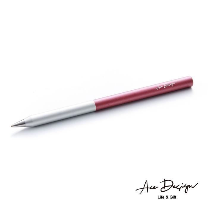 (複製)AceDesign 客製化 3in1無墨永恆鋼珠筆禮盒組-冰燦銀橙(附三款筆頭、義大利真皮筆套)