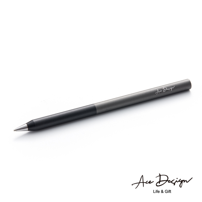 (複製)AceDesign|客製化 3in1無墨永恆鋼珠筆禮盒組-石墨黑黑(附三款筆頭、義大利真皮筆套)
