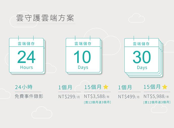 10天雲端影像儲存(12+3方案)