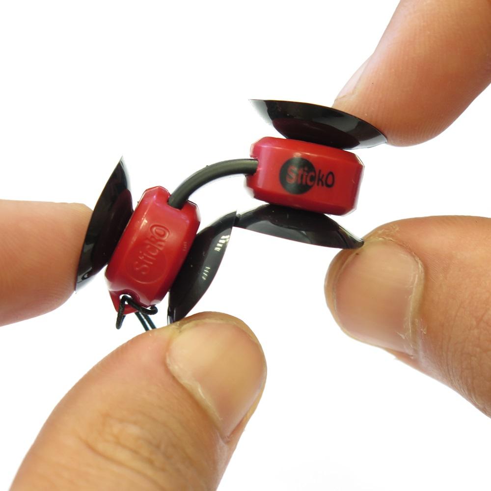 玩轉科技 STICKO|吸利夠無敵萬用小吸盤(3色)一組兩入