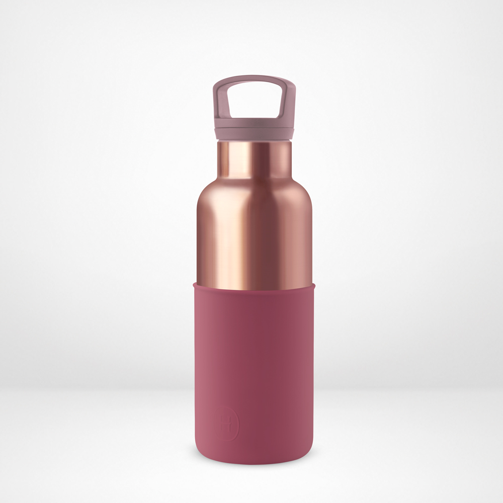 美國HYDY CinCin Déco 絕美保溫瓶 480ml 蜜粉金瓶-酒紅