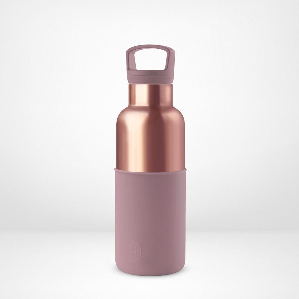 美國HYDY|CinCin Déco 絕美保溫瓶 480ml 蜜粉金瓶-乾燥玫瑰